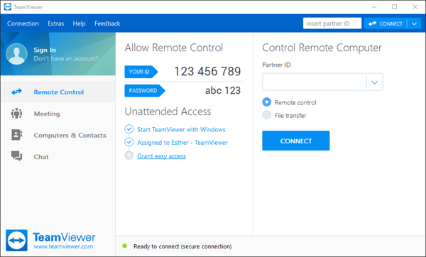 TeamViewer-remote-connection-Free-Download