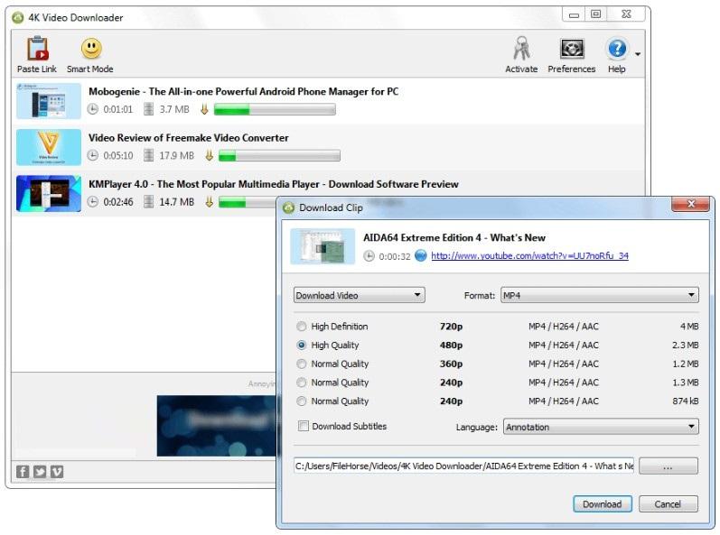 4K Video Downloader 4.4 Free Download for Windows