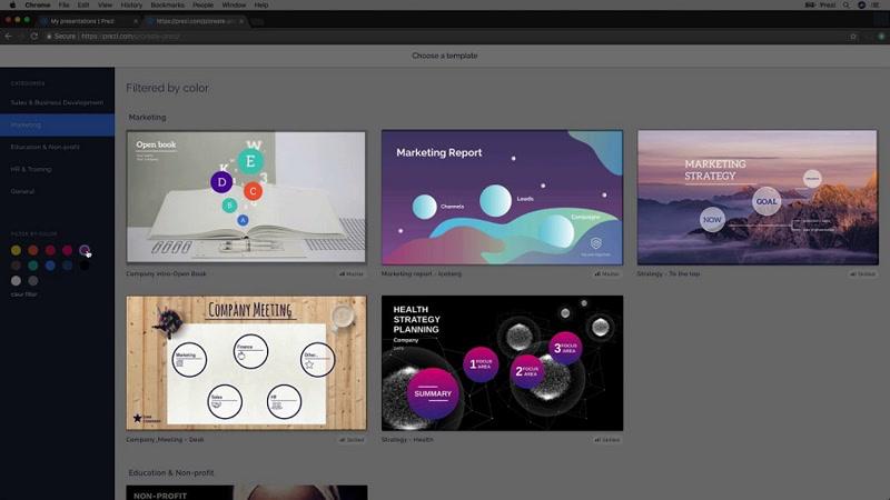 Prezi Next 1.6 Free Download Main Window Screenshot